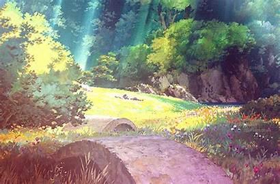 Scenery Ghibli Studio Anime Arrietty Secret Open