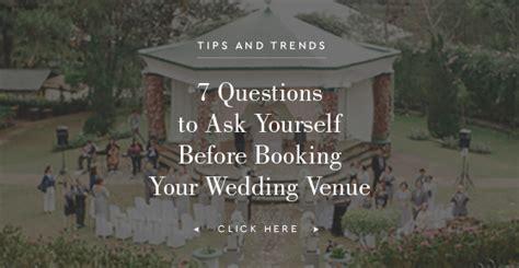 tips  choosing  wedding venue philippines wedding blog