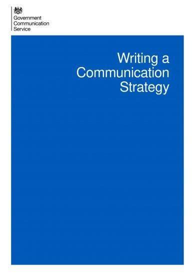 communication strategy plan writing