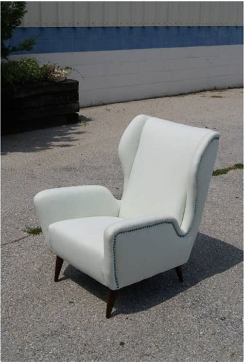 mid century single vintage italian lounge chair for sale