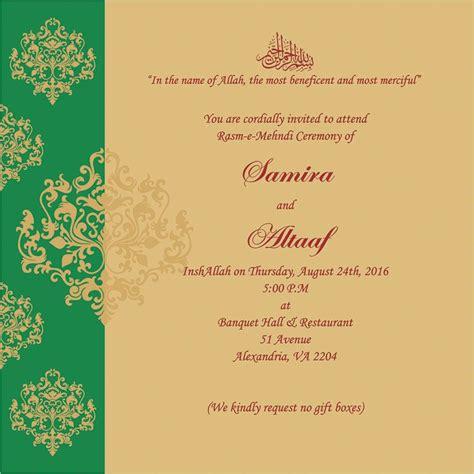 wedding invitation wording  mehndi ceremony