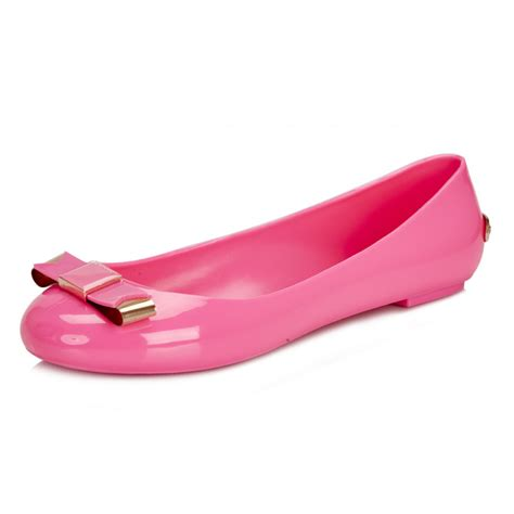 toe flat soft pink ted baker womens pink caelan flat shoes