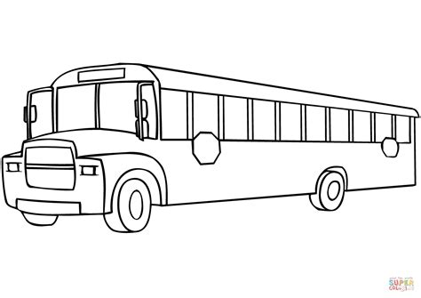 school bus coloring page  printable coloring pages