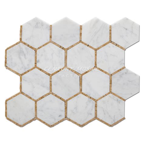Marble Mosaic Tile by Hexagon Marble Mosaic Centurymosaic Marble Mosaic Tile