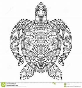 Dessin D Hirondelle Pour Tatouage : tortue de zentangle de dessin pour la page de coloration ~ Melissatoandfro.com Idées de Décoration