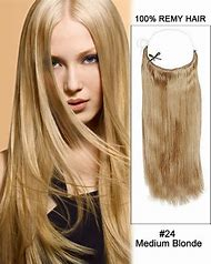 24 Inch Human Hair Extensions Blonde