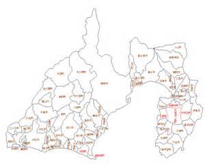静岡県:静岡県白地図 | 「平成の大合併」徹底追跡 : 静岡県白地図集 ...