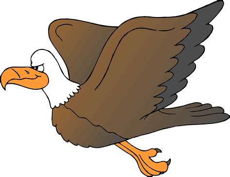 Cute Cartoon Eagles Flying