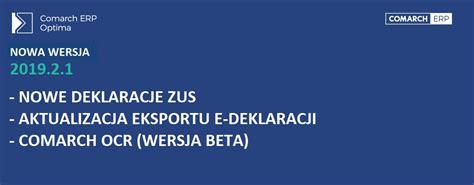 jest już dostępna nowa wersja comarch erp optima 2019 2 1 elte s
