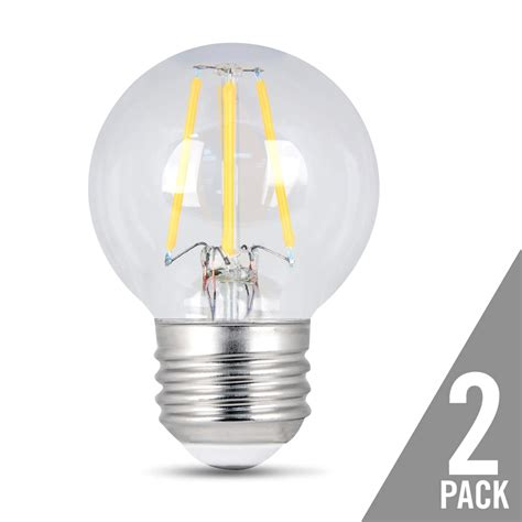 average lifespan of a light bulb 300 lumen vintage 2700k dimmable led g16 1 2 feit electric