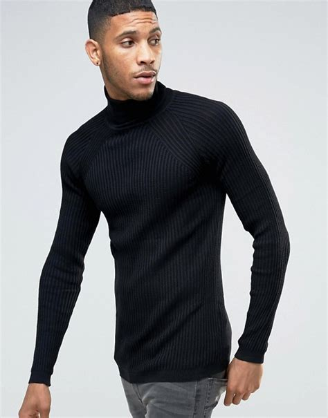 Roll Neck Rib River Island river island river island ribbed roll neck fit