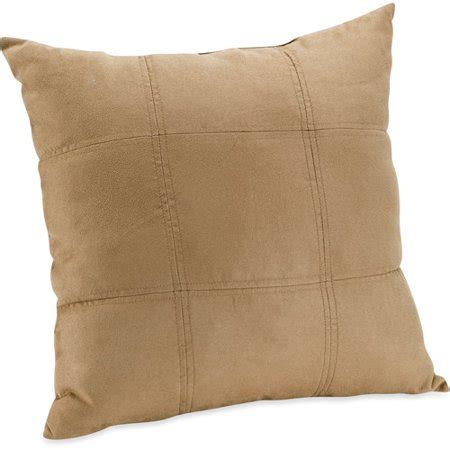 walmart throw pillows mainstays suede brownstone decorative pillow walmart