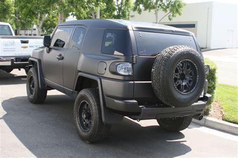 matte black vehicle wrap toyota fj cruiser