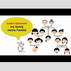 Learn German  Vocabulary Lessons A1  Family Members Youtube
