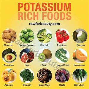 Potassium rich foods, new studies show adding potassium ...