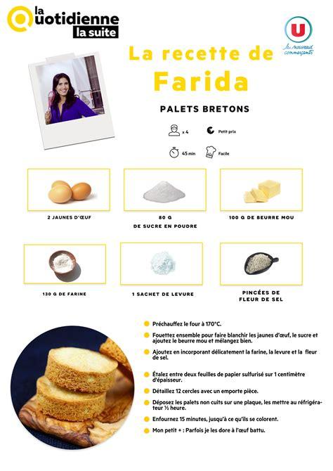 recette de oliver sur cuisine tv la quotidienne la suite la recette de farida palets