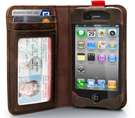 bookbook iphone 4 doubles as a wallet crnchy