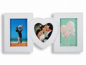 Großer Bilderrahmen Für Viele Fotos : bilderrahmen fotorahmen wei mit herz f r 3 fotos bilder ~ Bigdaddyawards.com Haus und Dekorationen