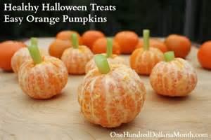 Easy Healthy Halloween Treats