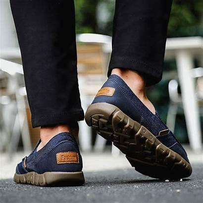 Shoes Slip Loafers Canvas Soft Casual Newchic
