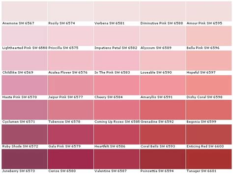 the 25 best shades of pink names ideas on