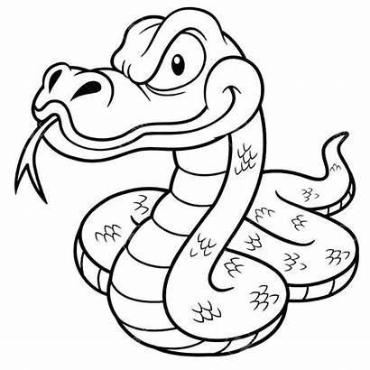Snake Coloring Drawing Cartoon Pages Anaconda Outline