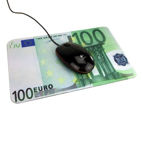 souris de bureau tapis de souris billet de 100 euros pour un bureau de