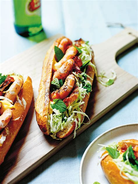 prawn baguette  minted cabbage recipes sbs food