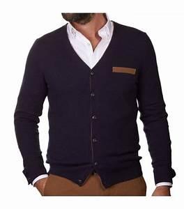 Acheter Cardigan Bleu Marine Vêtement Homme JAQK