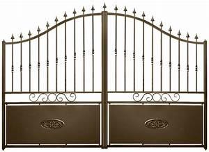 Portail 4 Metres 2 Vantaux : portail fer deauville ~ Edinachiropracticcenter.com Idées de Décoration