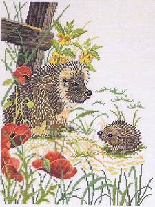 10 Count Cross Stitch Graph Paper Hedgehogs Cross Stitch Kit By Rosenstand