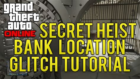 Gta Online Secret Heist Bank Vault Location Tutorial (gta
