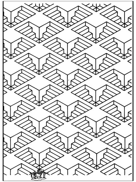 geometric shapes  art coloring pages