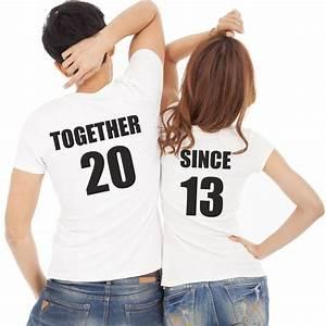 Tee Shirt A Personnaliser : lot de 2 t shirts pour amoureux personnaliser together ~ Dallasstarsshop.com Idées de Décoration