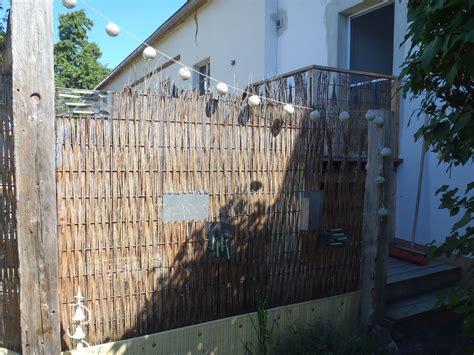 Zaun Aus Baustahlmatten by Sichtschutz Aus Baustahlmatte Und Weide Mein Garten
