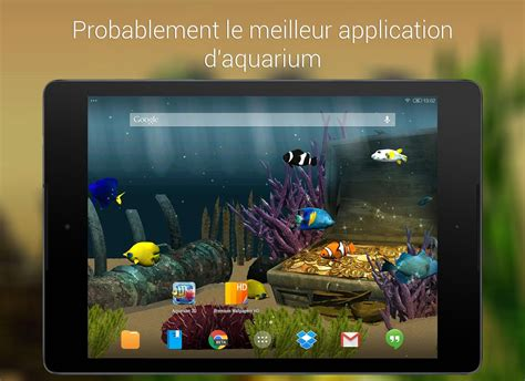 aquarium fond d 233 cran anim 233 applications android sur play