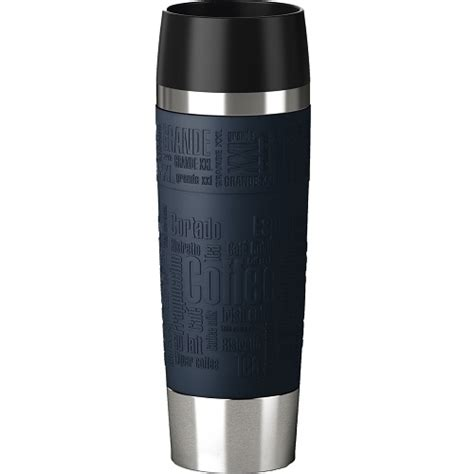 emsa isolierbecher travel mug grande 500 ml blau thermobecher kaffeebecher eur 29 93