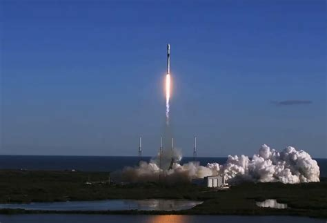 spacex rocket finally launches  spy satellite
