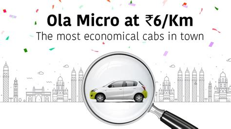 cheap ola micro charges   rs   km