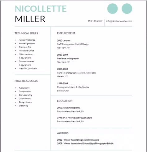 resume cover letter using indesign graphic design