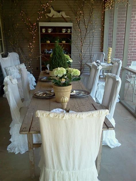 Shabby Chic Dining Room Chair Covers by Pin By P On Dining Areas