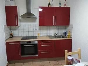 Ikea einbaukuche rot inkl gerate von ikea in heidelberg for Einbauküche ikea