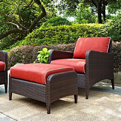 crosley kiawah 2 outdoor wicker seating set with