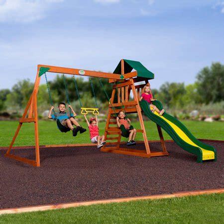 Walmart Backyard Playsets by Backyard Discovery Prescott Cedar Wooden Swing Set