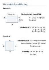 Quadrat Berechnen Formel : 4teachers lernplakat fl cheninhalt und umfang rechteck quadrat ~ Themetempest.com Abrechnung