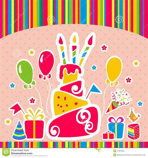 vector happy birthday background greeting card royalty