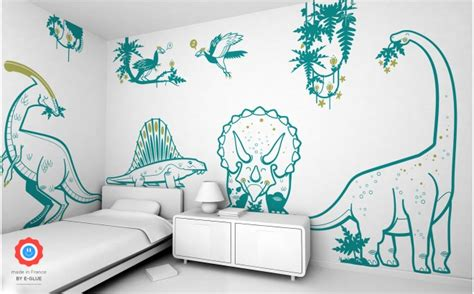 dinosaur wall decals  kids playroom  bedroom dino
