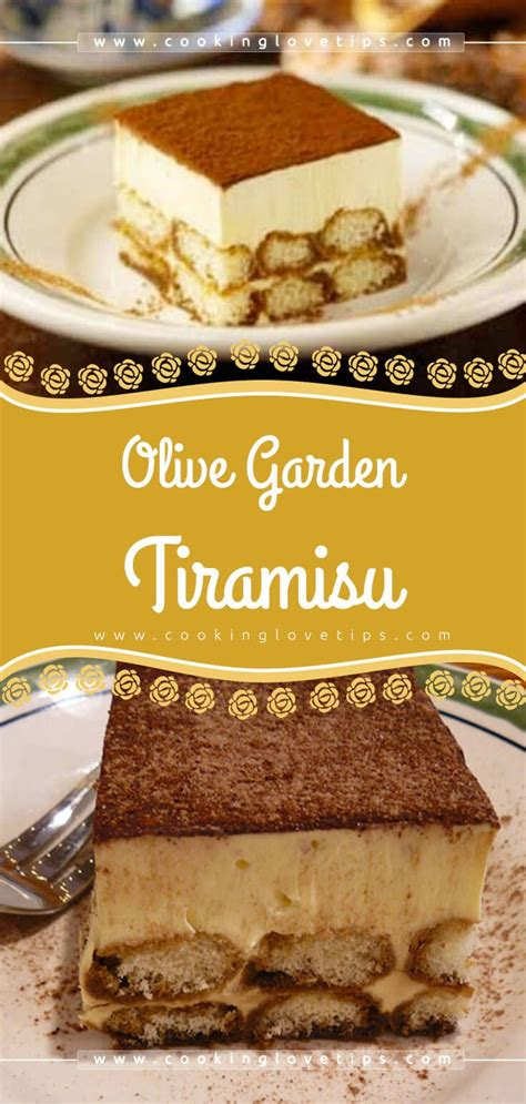 Stepping into an olive garden for the first time in 15 years was surreal. Olive Garden Tiramisu   Recipe   Easy tiramisu recipe, Easy cake recipes, Tiramisu recipe