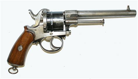 (1934)- Belgian Pinfire Revolver, Cal. 9.5mm ?, 6 Shots, Unknown Maker, Good To Vg Cond., 5