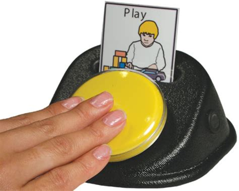 small talk assistive technology communicator with built in icon holder